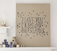 Stars Linen Canvas N