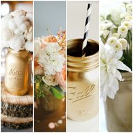 DIY Gold Mason Jars
