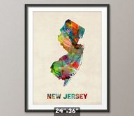 New Jersey Watercolo
