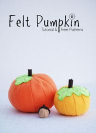Felt Food Fall Pumpk