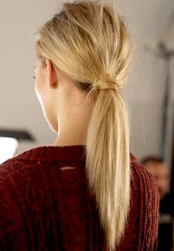 Perfect low ponytail