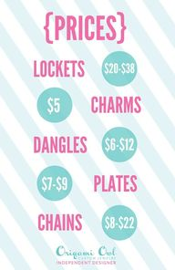 Origami Owl Prices D