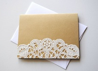 Lace Card Stationary