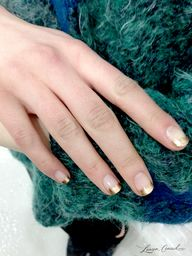 Gold French Tips at
