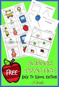 FREE preschool sciss...