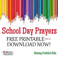 School Day Prayers