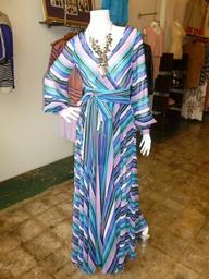 Sheer striped flowy maxi dress!