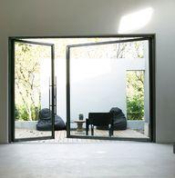 big glass doors.