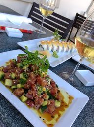 Ahi poke and crab ro