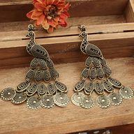 Peacock earringsvint