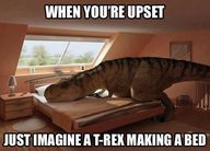Trex Making Bed