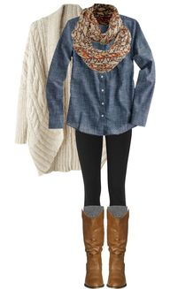 Knit cardigan over a