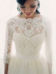 Lace sleeve wedding