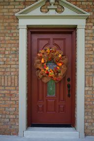 Front Door Fall Wrea