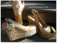 Mosaic Tile Shoe wit