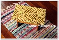 crochet stool cover,