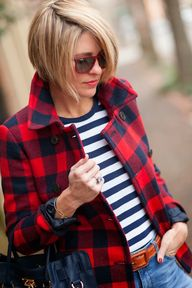 Plaid + stripes