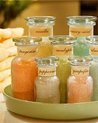 Homemade bath salts.