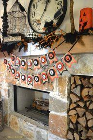 Halloween Mantel by