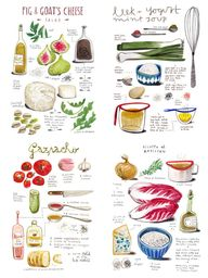 Cool food infographi