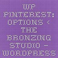 WP Pinterest: Option...