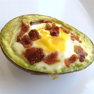 Egg in Avocado Hole