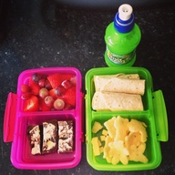 Healthy packed lunch