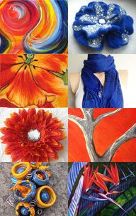 Orange and Blue by P