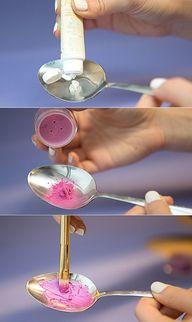Mix loose pigments w