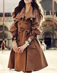 Flare Trench Coat.