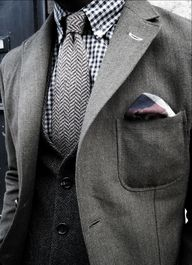 Herringbone tie and