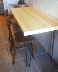 Skinny table made wi