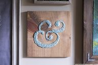 DIY ampersand wall a