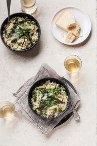 Asparagus and pea ri