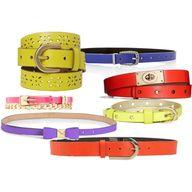 """bright belts galore"