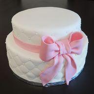 Gâteau nœud rose