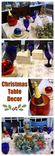 Christmas table deco