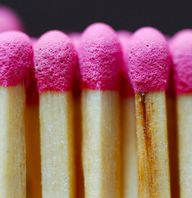 pink match sticks