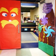 The lorax  Door deco