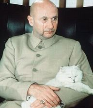 Blofeld with cat