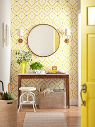 Wallpapered Accent W