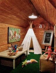Astro turf playroom.