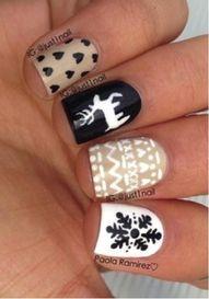 Winter print nails!...