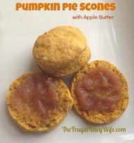 Pumpkin Pie Scones w...