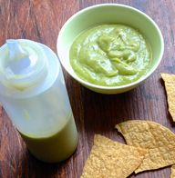 Creamy avocado salsa...