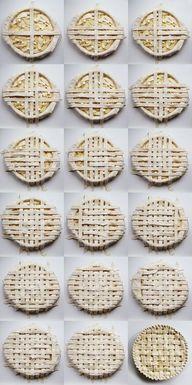 DIY lattice pie crus