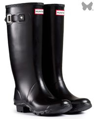 hunter wellies in bl