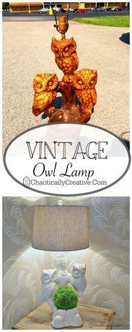 Vintage Owl Lamp Mak