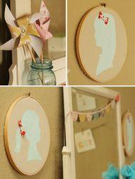 Silhouette Hoop Art