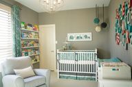 Gray and teal nurser